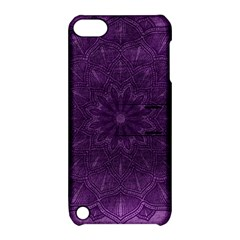 Background Purple Mandala Lilac Apple Ipod Touch 5 Hardshell Case With Stand by Celenk