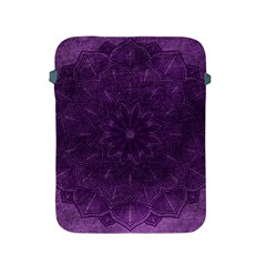 Background Purple Mandala Lilac Apple Ipad 2/3/4 Protective Soft Cases by Celenk
