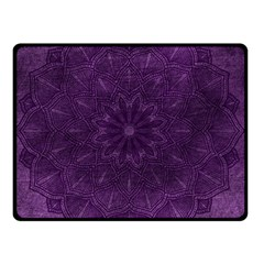 Background Purple Mandala Lilac Double Sided Fleece Blanket (small)  by Celenk