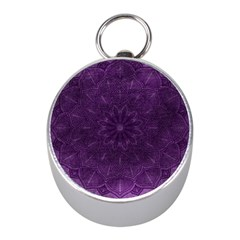 Background Purple Mandala Lilac Mini Silver Compasses by Celenk