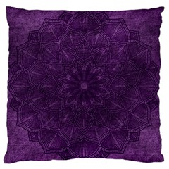 Background Purple Mandala Lilac Large Flano Cushion Case (two Sides) by Celenk