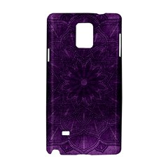 Background Purple Mandala Lilac Samsung Galaxy Note 4 Hardshell Case by Celenk