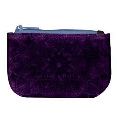 Background Purple Mandala Lilac Large Coin Purse by Celenk