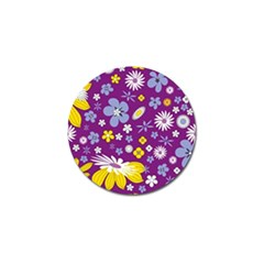 Floral Flowers Golf Ball Marker by Celenk
