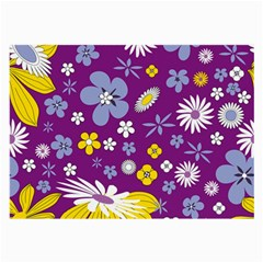 Floral Flowers Large Glasses Cloth (2 Side) by Celenk