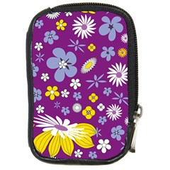 Floral Flowers Compact Camera Cases by Celenk
