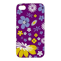 Floral Flowers Apple Iphone 4/4s Premium Hardshell Case by Celenk