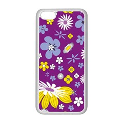 Floral Flowers Apple Iphone 5c Seamless Case (white) by Celenk