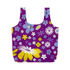 Floral Flowers Full Print Recycle Bags (m)