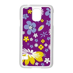 Floral Flowers Samsung Galaxy S5 Case (white) by Celenk