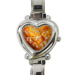Flowers Leaves Leaf Floral Summer Heart Italian Charm Watch