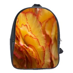 Flowers Leaves Leaf Floral Summer School Bag (xl) by Celenk
