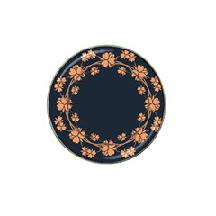 Floral Vintage Royal Frame Pattern Hat Clip Ball Marker (4 Pack) by Celenk