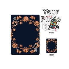Floral Vintage Royal Frame Pattern Playing Cards 54 (mini)