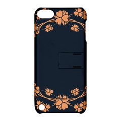 Floral Vintage Royal Frame Pattern Apple Ipod Touch 5 Hardshell Case With Stand by Celenk