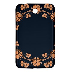 Floral Vintage Royal Frame Pattern Samsung Galaxy Tab 3 (7 ) P3200 Hardshell Case  by Celenk