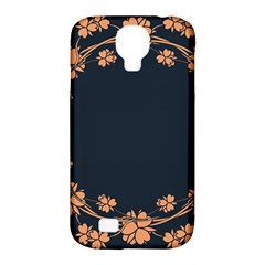 Floral Vintage Royal Frame Pattern Samsung Galaxy S4 Classic Hardshell Case (pc+silicone) by Celenk