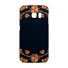 Floral Vintage Royal Frame Pattern Galaxy S6 Edge by Celenk