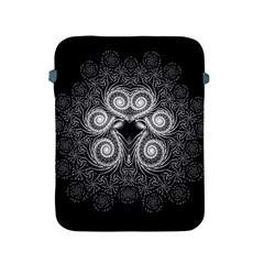 Fractal Filigree Lace Vintage Apple Ipad 2/3/4 Protective Soft Cases by Celenk