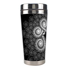 Fractal Filigree Lace Vintage Stainless Steel Travel Tumblers by Celenk