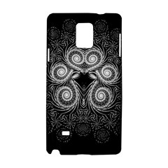 Fractal Filigree Lace Vintage Samsung Galaxy Note 4 Hardshell Case by Celenk