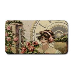 French Vintage Girl Roses Clock Medium Bar Mats by Celenk