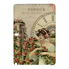 French Vintage Girl Roses Clock Samsung Galaxy Tab Pro 10 1 Hardshell Case by Celenk