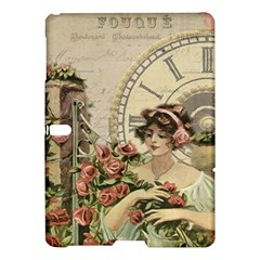 French Vintage Girl Roses Clock Samsung Galaxy Tab S (10 5 ) Hardshell Case  by Celenk