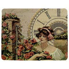 French Vintage Girl Roses Clock Jigsaw Puzzle Photo Stand (rectangular) by Celenk