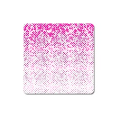Halftone Dot Background Pattern Square Magnet