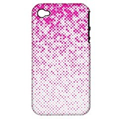 Halftone Dot Background Pattern Apple Iphone 4/4s Hardshell Case (pc+silicone) by Celenk