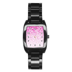 Halftone Dot Background Pattern Stainless Steel Barrel Watch by Celenk