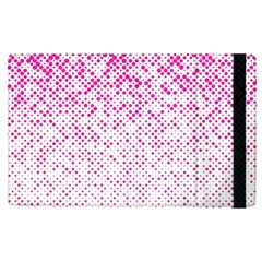 Halftone Dot Background Pattern Apple Ipad Pro 9 7   Flip Case by Celenk