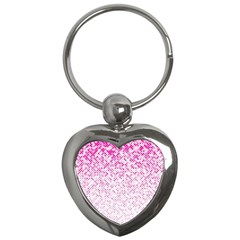 Halftone Dot Background Pattern Key Chains (heart)  by Celenk