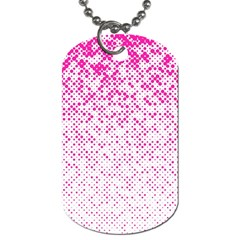 Halftone Dot Background Pattern Dog Tag (two Sides) by Celenk