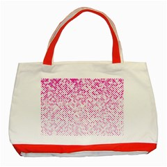 Halftone Dot Background Pattern Classic Tote Bag (red) by Celenk