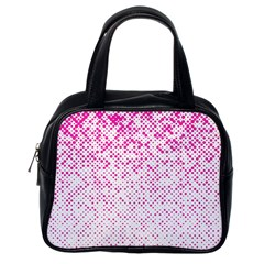 Halftone Dot Background Pattern Classic Handbags (one Side) by Celenk