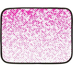 Halftone Dot Background Pattern Double Sided Fleece Blanket (mini)  by Celenk