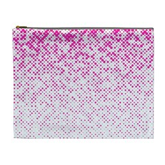 Halftone Dot Background Pattern Cosmetic Bag (xl) by Celenk