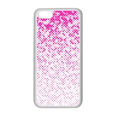 Halftone Dot Background Pattern Apple Iphone 5c Seamless Case (white) by Celenk