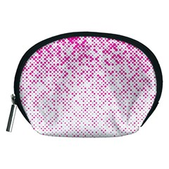 Halftone Dot Background Pattern Accessory Pouches (medium)  by Celenk