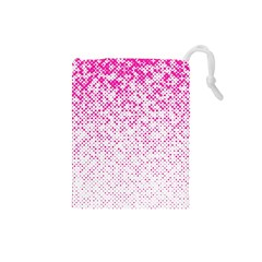Halftone Dot Background Pattern Drawstring Pouches (small)