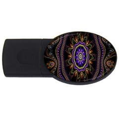 Fractal Vintage Colorful Decorative Usb Flash Drive Oval (2 Gb) by Celenk