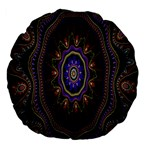 Fractal Vintage Colorful Decorative Large 18  Premium Flano Round Cushions Front