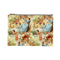 Seamless Vintage Design Cosmetic Bag (large)