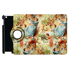 Seamless Vintage Design Apple Ipad 2 Flip 360 Case by Celenk