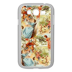 Seamless Vintage Design Samsung Galaxy Grand Duos I9082 Case (white) by Celenk