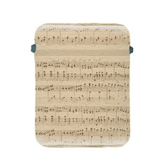 Vintage Beige Music Notes Apple Ipad 2/3/4 Protective Soft Cases by Celenk