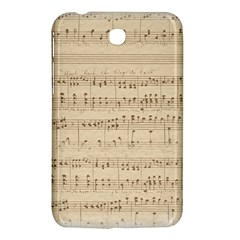 Vintage Beige Music Notes Samsung Galaxy Tab 3 (7 ) P3200 Hardshell Case  by Celenk