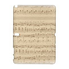 Vintage Beige Music Notes Galaxy Note 1 by Celenk